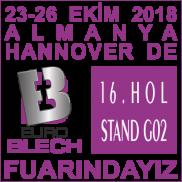 Almanya, Hannover, EUROBLECH 2018 Fuar Katılımı
